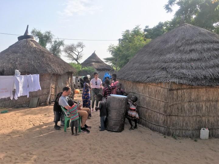Senegal visita aldea